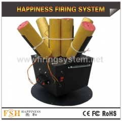 Rotating firing system for stage fireworks, one remote with 4 receivers,battery for power , hot sale